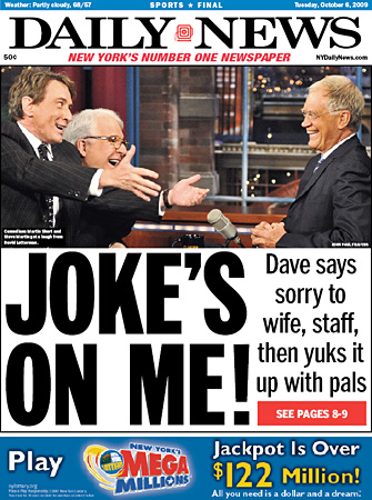 New York Daily News David Letterman