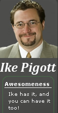 "Ike Pigott occamsrazr.com #2 on the list of ""Who's Worth Following?"" PR blogger All-Star, yeah Ike"