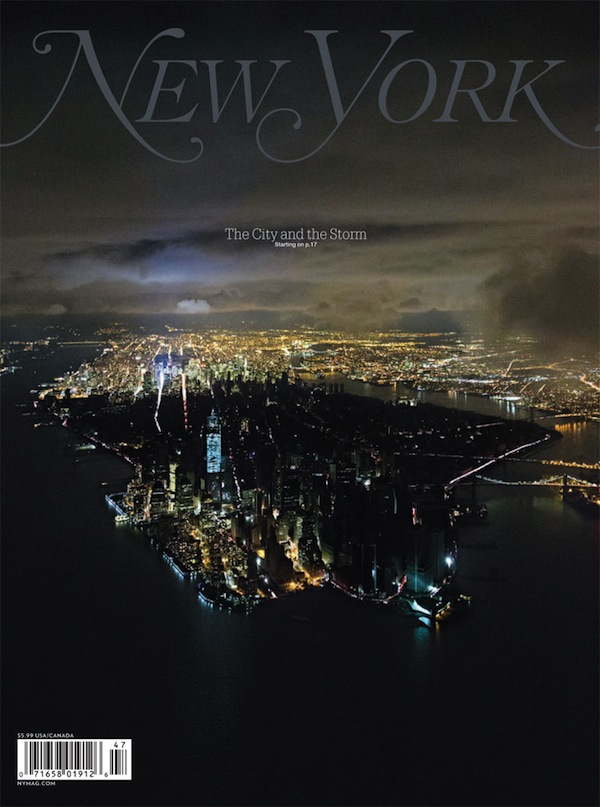New York Magazine cover for Hurricane Sandy