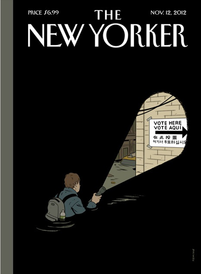 New Yorker Cover Sandy Psyche