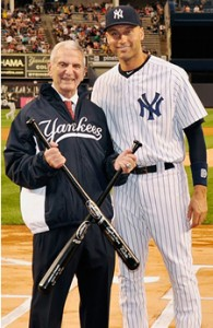 Howard Rubenstein and Derek Jeter at Yankee Stadium